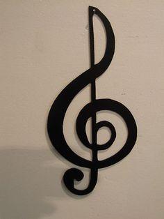 Treble Clef Musical Note Music Metal Wall Art Decor by HEAVENSGATEMETALWORK on Etsy