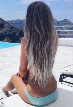 dramatic blonde brown ash blonde and silver ombre