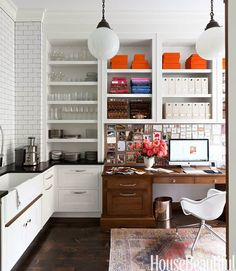 Kitchen by Nina Farmer featured in House Beautiful | Fabulous Room Friday 03.07.14