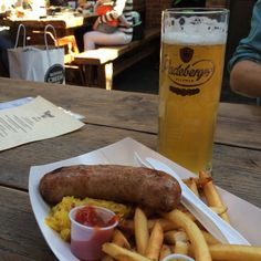 Radeberger's Pilsner Zwickl pairs perfectly with Easter Sausage!