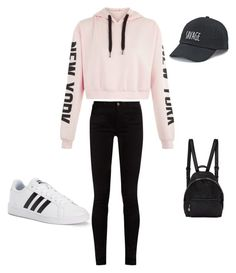 """""""Casual cute"""" by carolnf ❤ liked on Polyvore featuring SO, STELLA McCARTNEY, adidas and Gucci"""