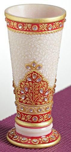 Marble Vase from Handicraft International www.handicraftinternational.com +91-9929654957