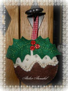 Kerstdecoratie in vilt