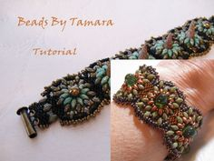Squash Blossom Bracelet using GumDrop or Spike and Twin Beads - Bead Tutorial Pattern PDF. $7.50, via Etsy.
