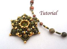 Tutorial Unakite Pendant - Beading pattern pdf by Ellad2 on Etsy https://www.etsy.com/listing/96415515/tutorial-unakite-pendant-beading-pattern