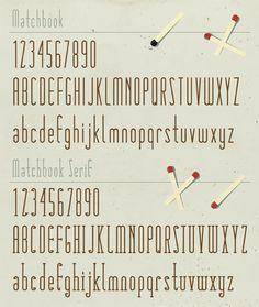 matchbook typeface...love it :)