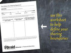 Sharing you online via Braid Creative