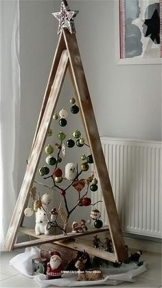 New Christmas Home Decor Inspiration Ideas In every Chris. , New Christmas Home Decor Inspiration Ideas In every Christmas, each family in every house requires to put a bit effort to make . Christmas Tree Design, Wooden Christmas Trees, Rustic Christmas, Christmas Projects, Christmas Tree Ornaments, Christmas Holidays, Funny Christmas, Ladder Christmas Tree, Christmas Ideas