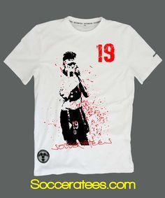 Gazza Italia 90 world cup football t shirt Socceratees.com