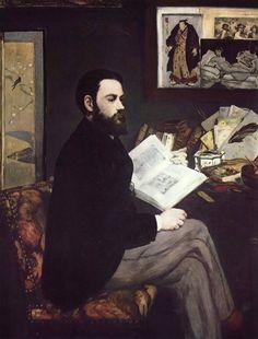 Edouard Manet - Portrait of Emile Zola