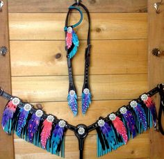 Check it out! Cowgirl And Horse, My Horse, Horse Tack, Horses, Custom Purses, Barrel Racing, Leather Belts, Turquoise Bracelet, Collars