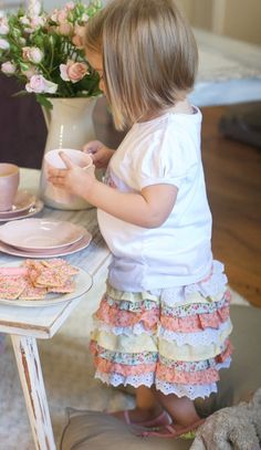 EXTRAORDINARY GUEST: Little Ruffle Skirt Tutorial & GIVEAWAY!   The 36th AVENUE