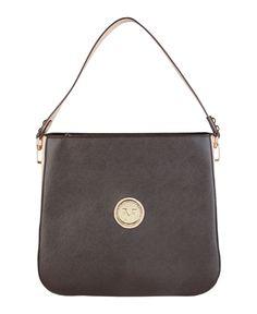 Versace 1969 abbigliamento sportivo srl milano italia - borsa a spalla - materiale: eco - pelle - un manico - chiusura c - Borsa a spalla donna  Marrone