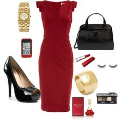 """Business - Red"" by sageflower on Polyvore"