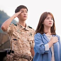 descendants of the sun — Song Joong Ki & Song Hye Kyo in Descendants of the. Korean Actresses, Korean Actors, Actors & Actresses, Song Joong Ki Dots, Desendents Of The Sun, W Kdrama, Dots Kdrama, Les Descendants, Song Hye Kyo Descendants Of The Sun