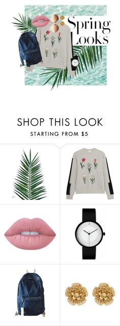 """""""Spring Looks"""" by flowerflavour ❤ liked on Polyvore featuring Nika, H&M, Steve J & Yoni P, Lime Crime, Chicnova Fashion, Miriam Haskell and Linda Farrow"""