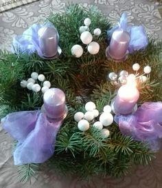 Adventní věnec fialový