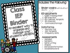 IEP Complete Binder Kit from School Bells N' Whistles on TeachersNotebook.com -  (51 pages)  - 51 pages of resources to organize your students with IEP's.