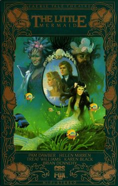 The Little Mermaid (with the CORRECT ending, I might add) Faerie Tale Theatre, Fox Video, Karen Black, Mermaid Fairy, The Muppet Show, Stories For Kids, Faeries, The Little Mermaid, Childhood Memories