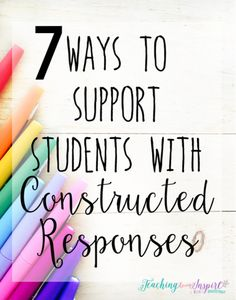 Constructed response reading questions are on all the assessments now. Read this post to learn SEVEN strategies to support your students with constructed response questions.
