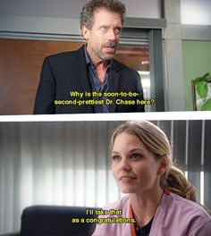 Haha I love Cameron and House Gregory House, Best Tv Shows, Favorite Tv Shows, Movies And Tv Shows, It's Never Lupus, House Md Quotes, Sean Leonard, Serie Doctor, Everybody Lies