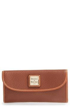 Women's Dooney & Bourke Leather Continental Wallet - Brown