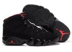 super popular 2c672 4d480 Jordan 9 black red Basketball Shoes Red Sneakers, Jordans Sneakers, Nike  Air Jordans,