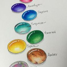 Hand-drawn gems by Tombow Signature Designer Marie Browning