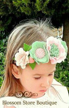 FUNNYSHIRTS.ORG Baby Girl Monica Flower Hat Infant Baby Hat