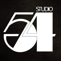 Studio 54 - Futurist/deco logo by Gilbert Lesser for the infamous New York dancefloor, 1977.  Referencing F. Scott Fitzgerald, Hollywood, Glamour and Decadence.