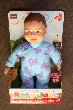 Lovely Cbeebies Baby Jake Musical Singing Doll Toy in this months giveaway.   Good luck. x