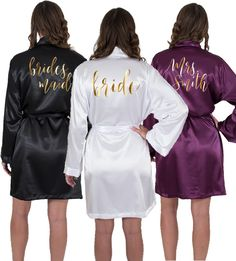 554dac2840 Personalized Satin Bridal Party Robes