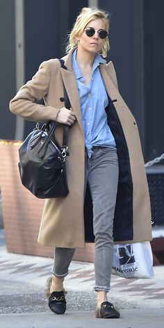 11 Celebrity Looks That Make Us Want a Camel Coat—Stat - Sienna Miller - from InStyle.com