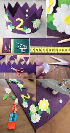 DIY: Dani von Gingered Things zeigt dir wie du aus Filz eine ganz individuelle Geburtstagskrone für dein Kind basteln kannst. Hier lang.