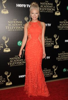 Kelli Goss (Courtney) Kelli Goss, Strapless Dress Formal, Formal Dresses, National Academy, Young And The Restless, Red Carpet, Soap, Fashion, Dresses For Formal