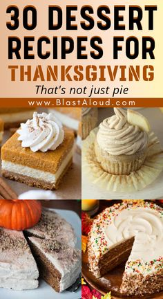 30 Amazing and easy dessert recipes for Thanksgiving that's not pie! Spice things up a bit this Thanksgiving by making something other than your usual Thanksgiving desserts. These tasty Thanksgiving dessert recipes will be a hit at any Thanksgiving dinner! #thanksgiving #thanksgivingdessert #thanksgivingrecipes #thanksgivingdessertseasy #easythanksgivingdesserts #falldesserts #falldessertrecipes Thanksgiving Desserts Easy, Holiday Desserts, Holiday Baking, Holiday Recipes, Snack Recipes, Dessert Recipes, Snacks, Autumn Cupcakes, Just Pies