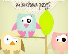 3 Buhos Png tiernos :3 by Melani-Tutorials on DeviantArt