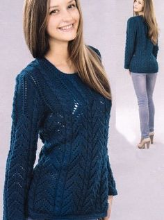 Lace Pullover http://knitchart.com/item/lace-pullover.html