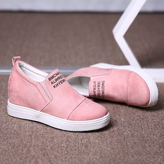 Big Size Women Daily Comfy Suede Height Increased Slip On Flat Short Boots is hot-sale. Come to NewChic to buy womens boots online. Boots Online, Short Boots, How To Get Money, Ankle Booties, Wedge Shoes, High Top Sneakers, Footwear, Slip On, Wedges