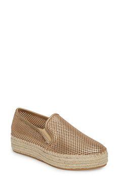 STEVE MADDEN | Wright Perforated Platform Espadrille #Shoes #Flats #STEVE MADDEN