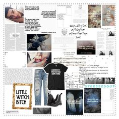 """""""We're a crooked love in a straight line down //"""" by asterismosx ❤ liked on Polyvore featuring C.O. Bigelow, Home Source International, Drakes London, Coven, Dr. Martens and Polaroid"""