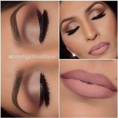 Eye make up. Ombré lips