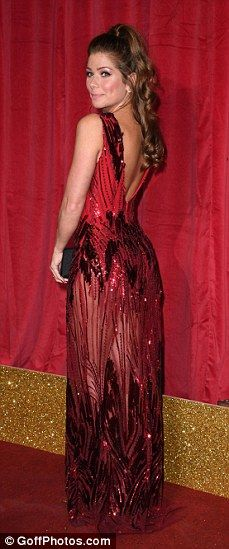 Stephanie Waring leads the scarlet ladies at the British Soap Awards