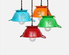 DIY Colander Pendant Lamps | NewNist