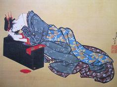 Katsushika Hokusai (1760-1849) – Donna ebbra- e -Paesaggio-