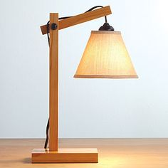 Hayes Wooden Task Table Lamp | World Market. For my desk!! I need a lamp, and this one is super cute :)