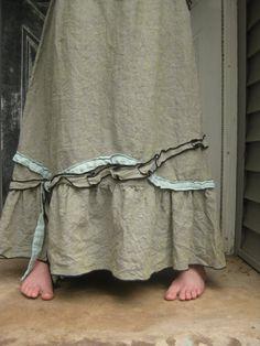 CUSTOM ORDER for Cynthia Long Petal Skirt by sarahclemensclothing