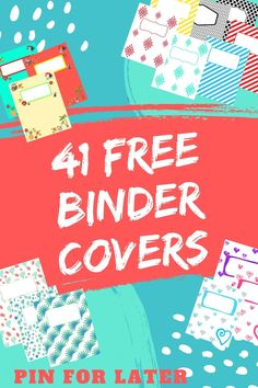 You can use these for back to school, budget binder, recipe binder, meal planning binder, or life management binder! Printable Binder Covers Free, Binder Cover Templates, Free Printables, Meal Planning Binder, Budget Binder, Binder Dividers, Binder Organization, College Organization, Family Emergency Binder