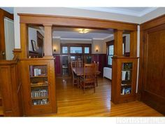 1916 Bungalow oak built-ins - St. Paul, MN