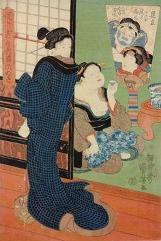 歌川国芳「役者気取贔屓びいき」